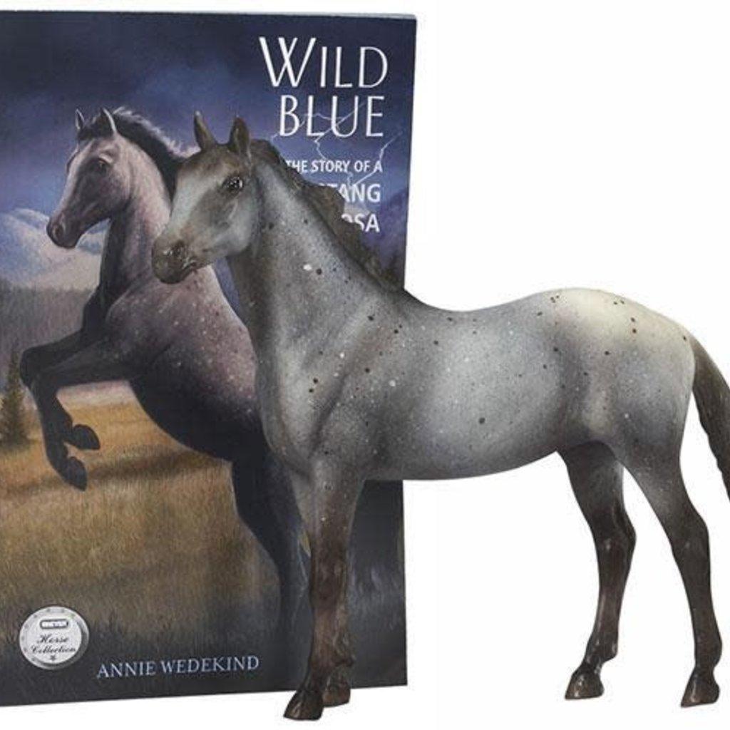 Breyer Wild Blue Horse and Book Set