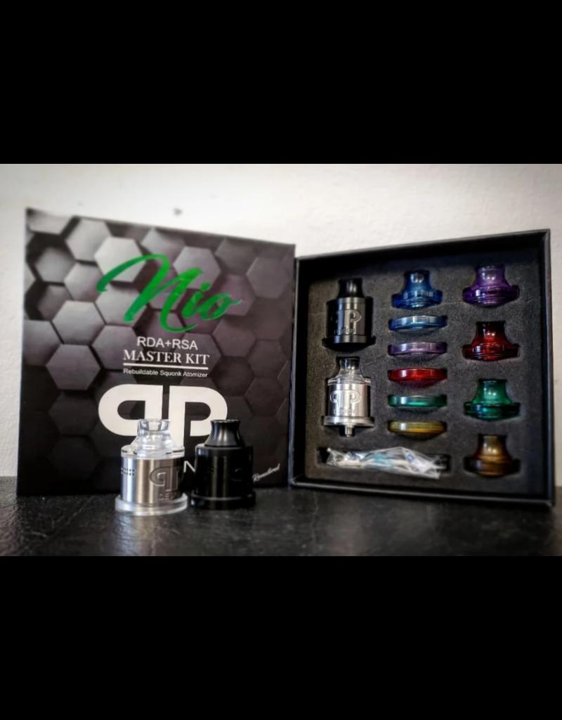 QP Design QP Design Nio RDA/RSA Master Kit (Black & Stainless)