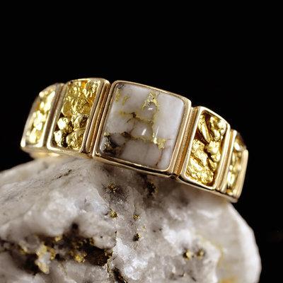 Gold Quartz Ring  11.75  RM1046NQ