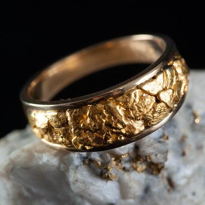 Gold Quartz Ring 10.5 RM8.5MMT
