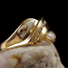 Gold Quartz Ring - .14CT - 7.5 RL1060DQ