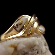 Gold Quartz Ring 7.5 RL1060DQ