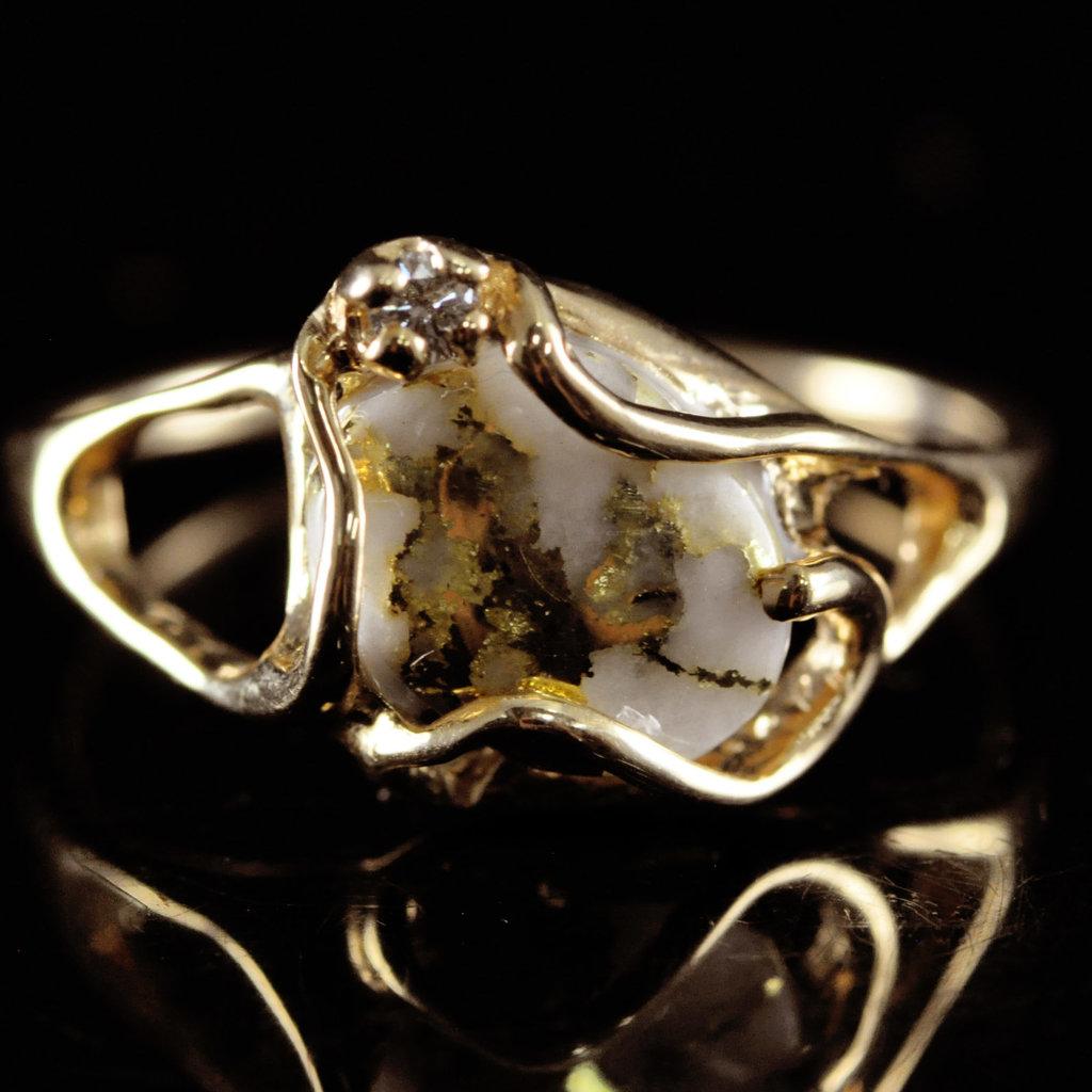 Gold Quartz Ring RL1079DQ