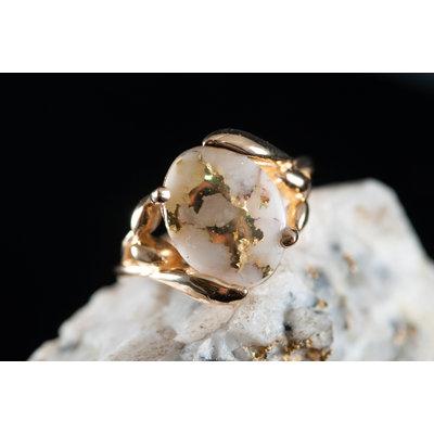 Gold Quartz Ring 6 RL1136Q