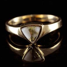 Gold Quartz Ring - RLL1326Q - 7.75