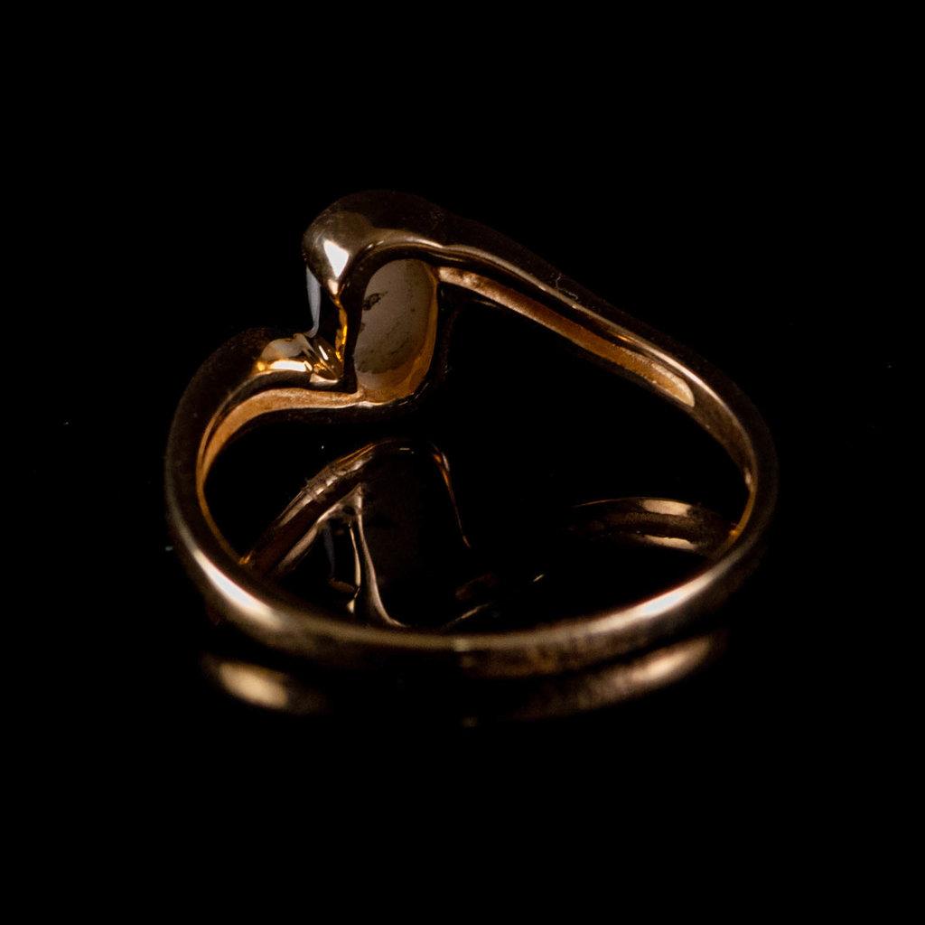 Gold Quartz Ring - RLJ30Q - 7.5