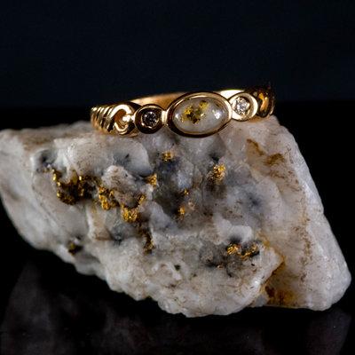 Gold Quartz Ring - RL691D5Q - 6