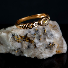 Gold Quartz Ring - RL691D5Q - 6