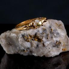 Gold Quartz Ring 7.5 RL681Q