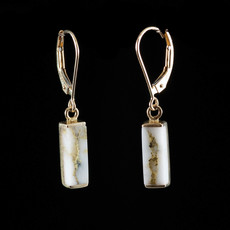 Gold Quartz Earrings EN894SQ/LB