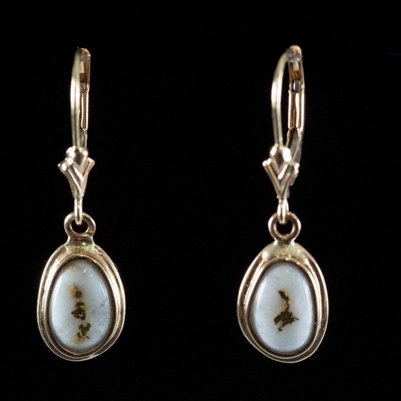 Gold Quartz Earrings  EN708QX/LB