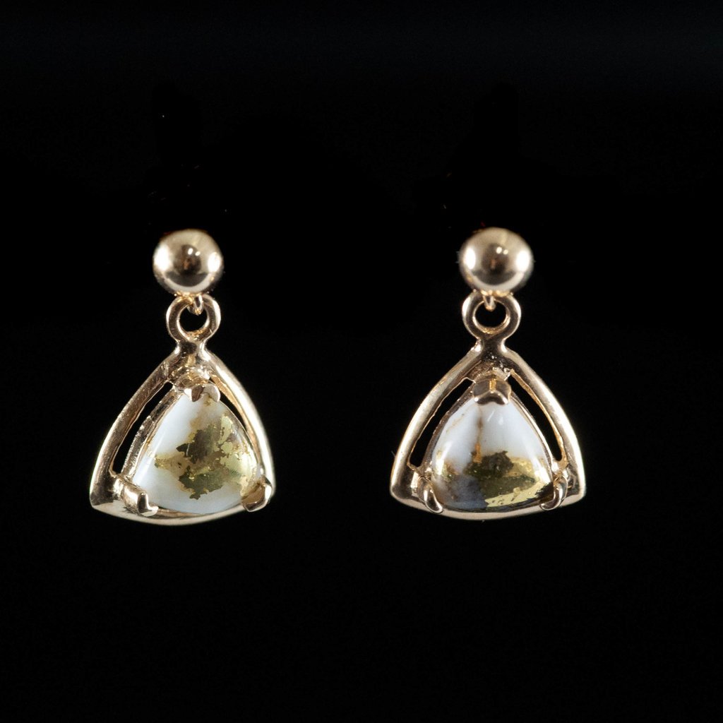 Gold Quartz Earrings  EN441Q/PD