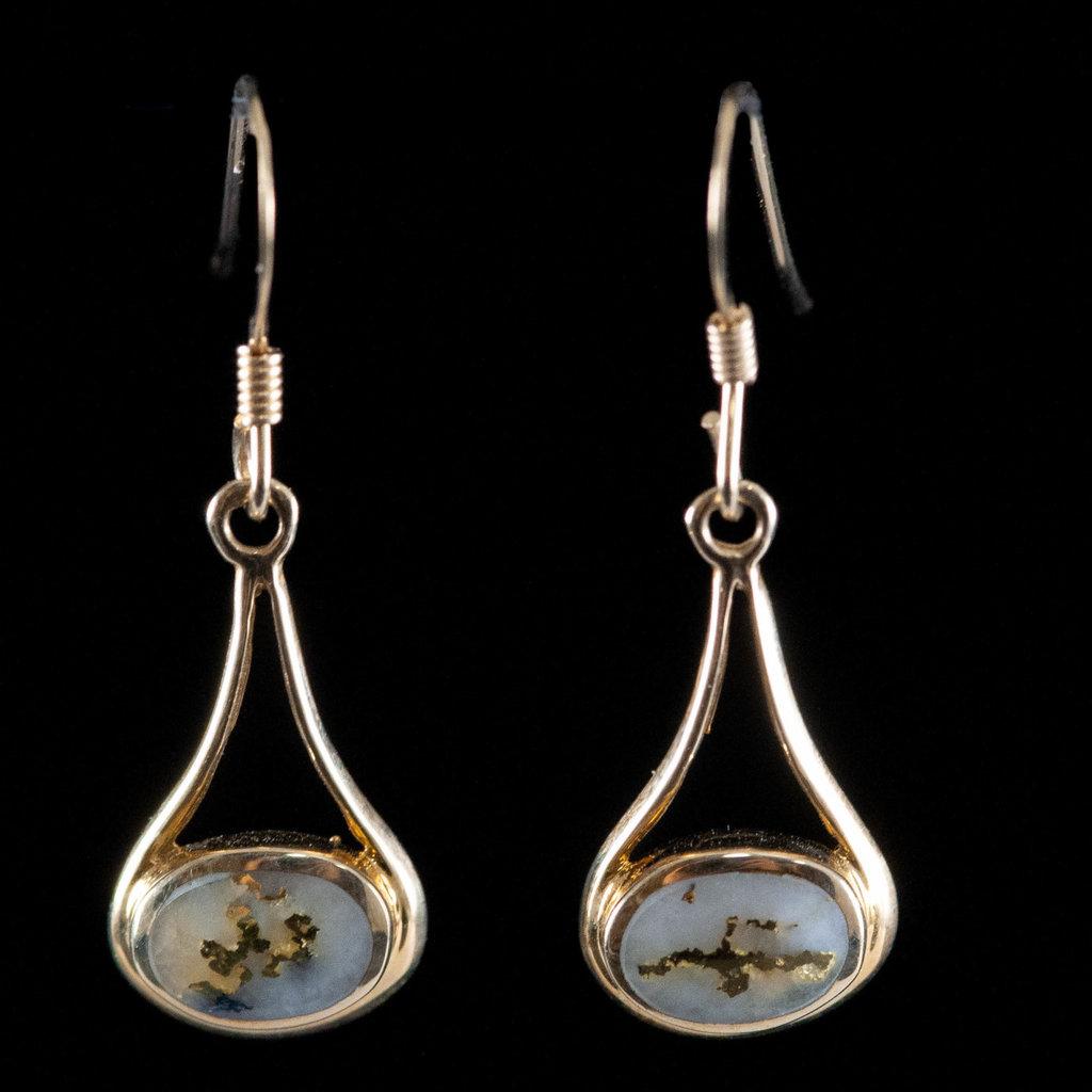 GOLD QUARTZ EARRINGS EN871Q/WD