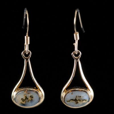 GOLD QUARTZ EARRINGS EN871Q/WD
