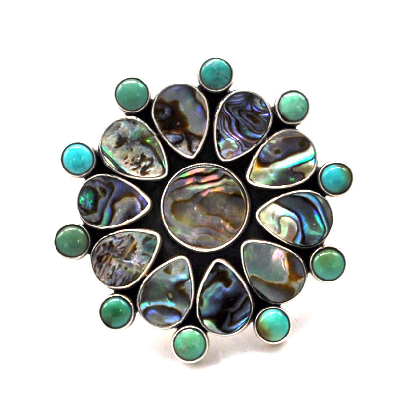 Federico Abalone Ring size: 8 adjustable