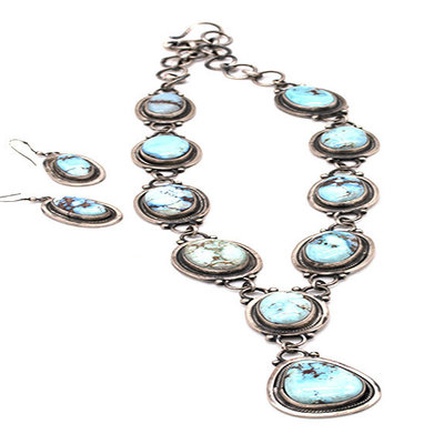 Golden Hills Turquoise Neck & Ear N0420N01