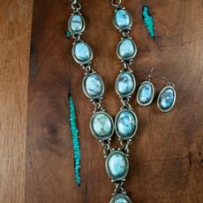 Golden Hills Turquoise Neck & Ear N0420N01
