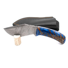 Theta Innovations Kukri Blue Pine Cone Knife