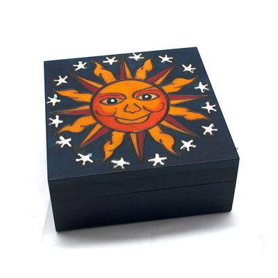 Wooden Box with Sun