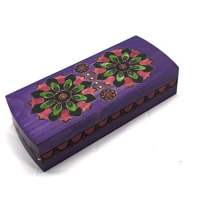 Wood Box - Double Flower