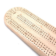 CHERRY 3 TRACK CRIBBAGE BOARDContinuous 3 Track Cribbage Board Maple