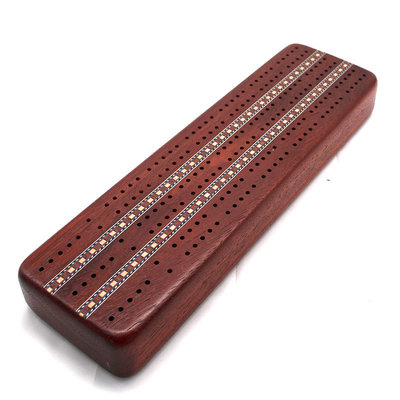 Cribbage Set 3-Track Padauk Wood
