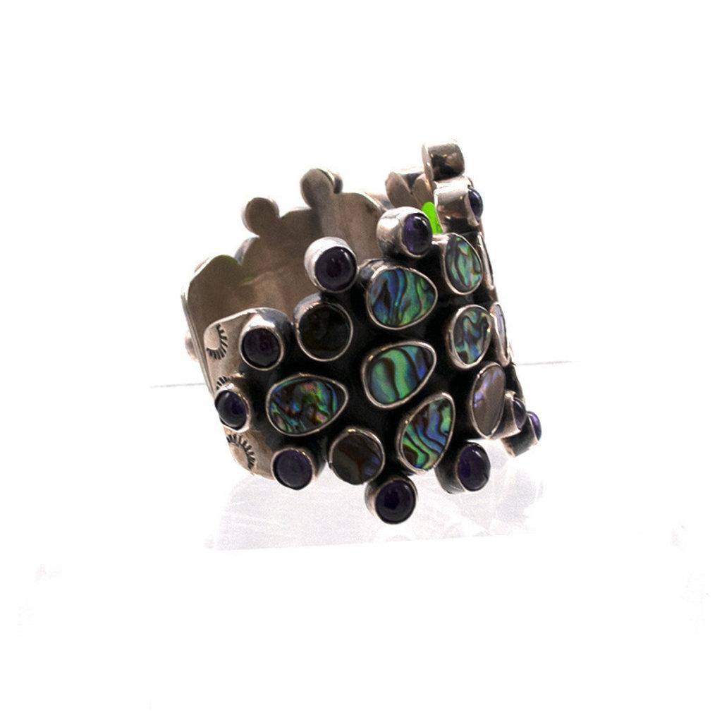 Federico Federicco Abalone & Amythest Bracelet FJ0420B01