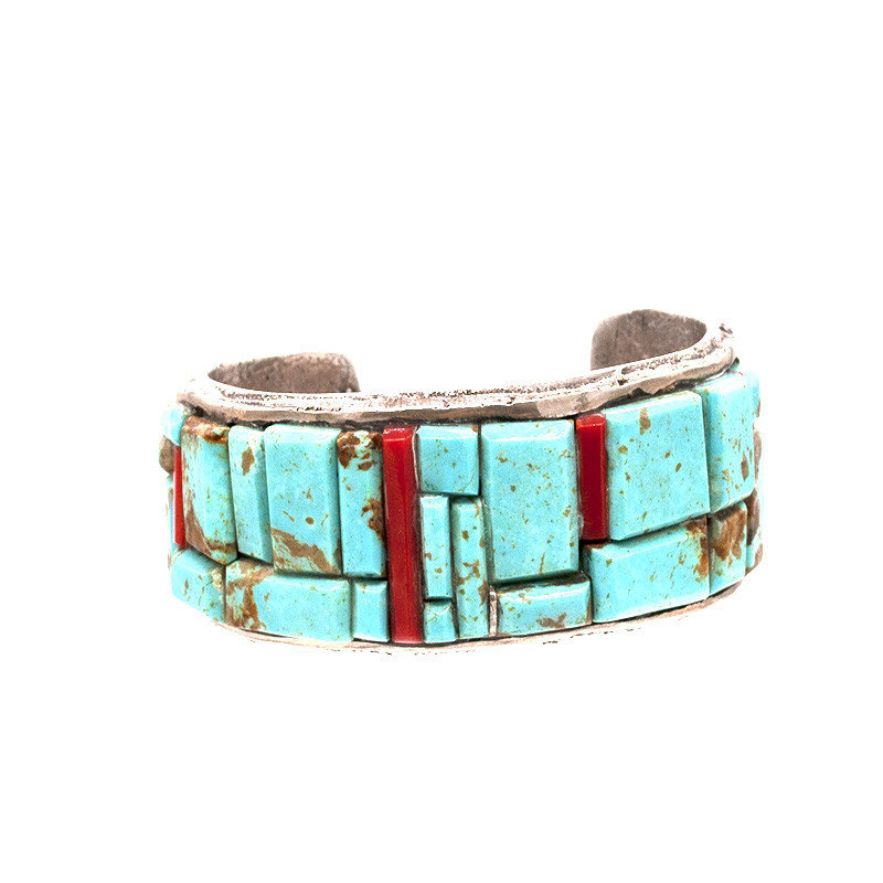 Turquoise and Coral Bracelet NA0520B15