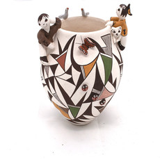 Judy Lewis - Acoma - Friendship Pot