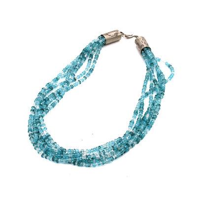 "Aqua Marine 18"" Six Stand Necklace"