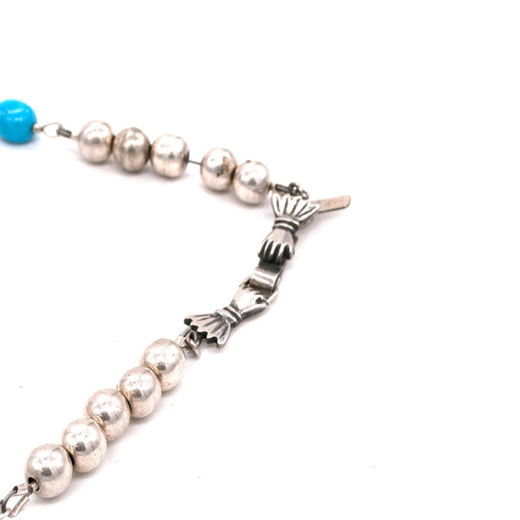 "Federico Silver Beads w/Cross pendant  30"""