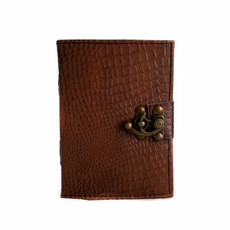 Brown Leather Embossed Python 5x7