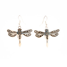 Hopi Dragonfly Silver Earrings_NA0720E03