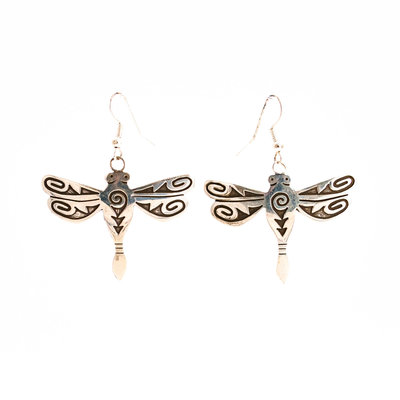 Hopi Dragonfly Silver Earrings_NA0720E03