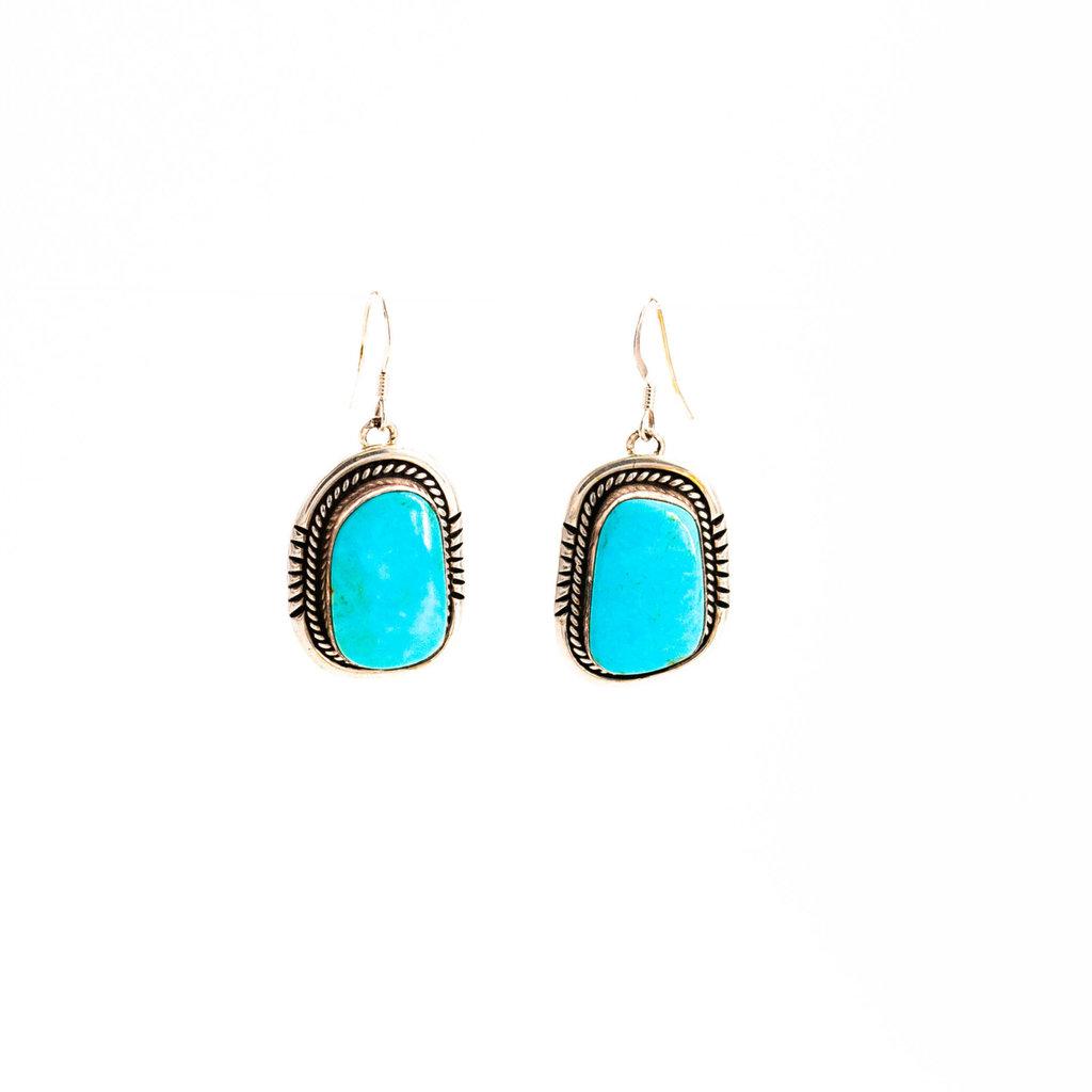 Turquoise Navajo Earrings_NA0720E05