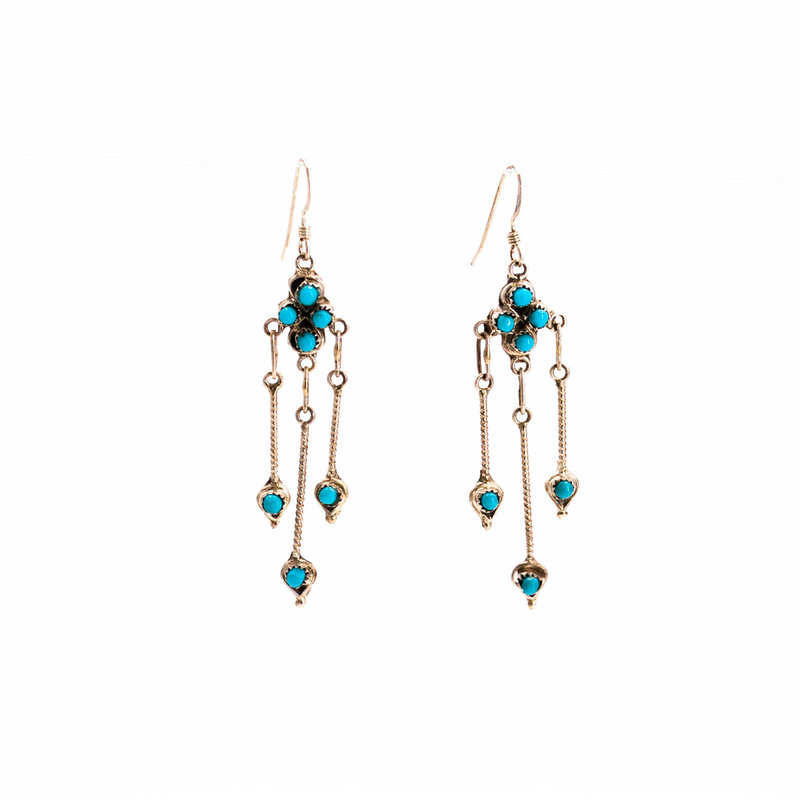 Zuni Turquoise Earrings_NA0720E08