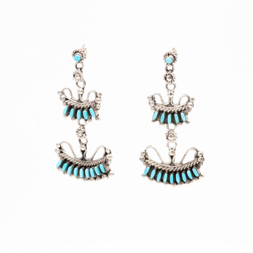 Zuni Turquoise Earrings_NA0820E01