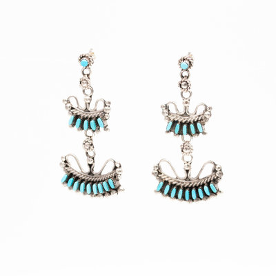 Zuni Turquoise Earrings_NA0820E01