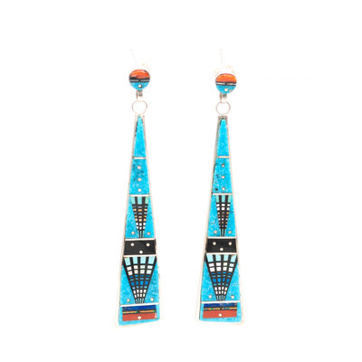 Zuni Inlay Earrings_NA0820E05
