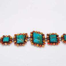 "Federico 8"" Turq. & Spiny Link Bracelet"