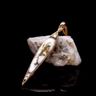 Gold Quartz Pendent Pbs35dq