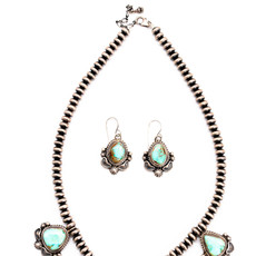 Navajo Turq. Neck-Ear Set_NA1020NE11