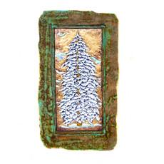 Large Snowy Pine 12 x 18