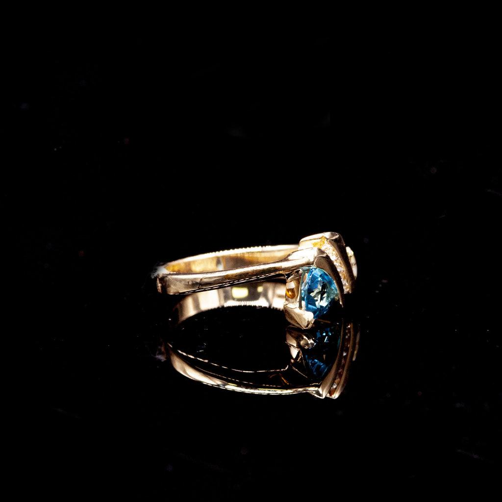 Gold Quartz Ring RL844D128TQ - 7