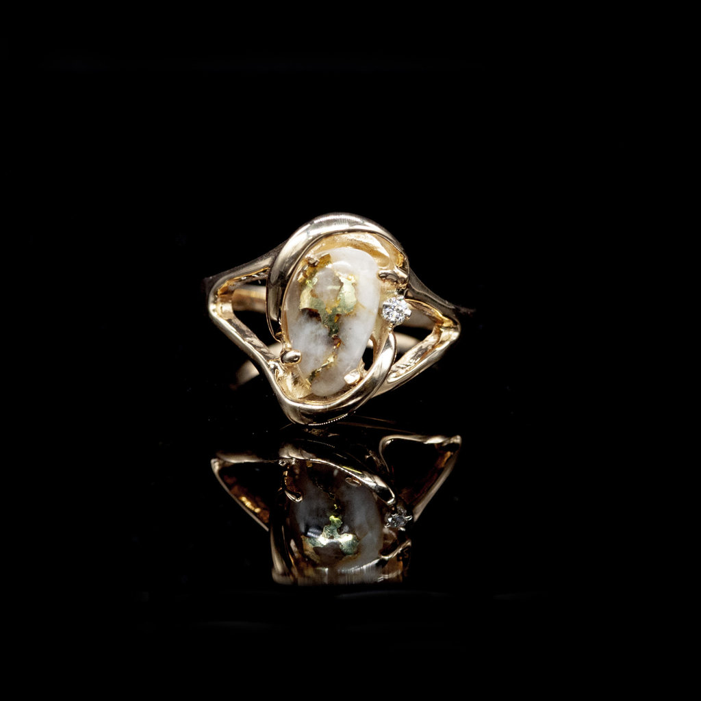 Gold Quartz Ring_RL784SDQ