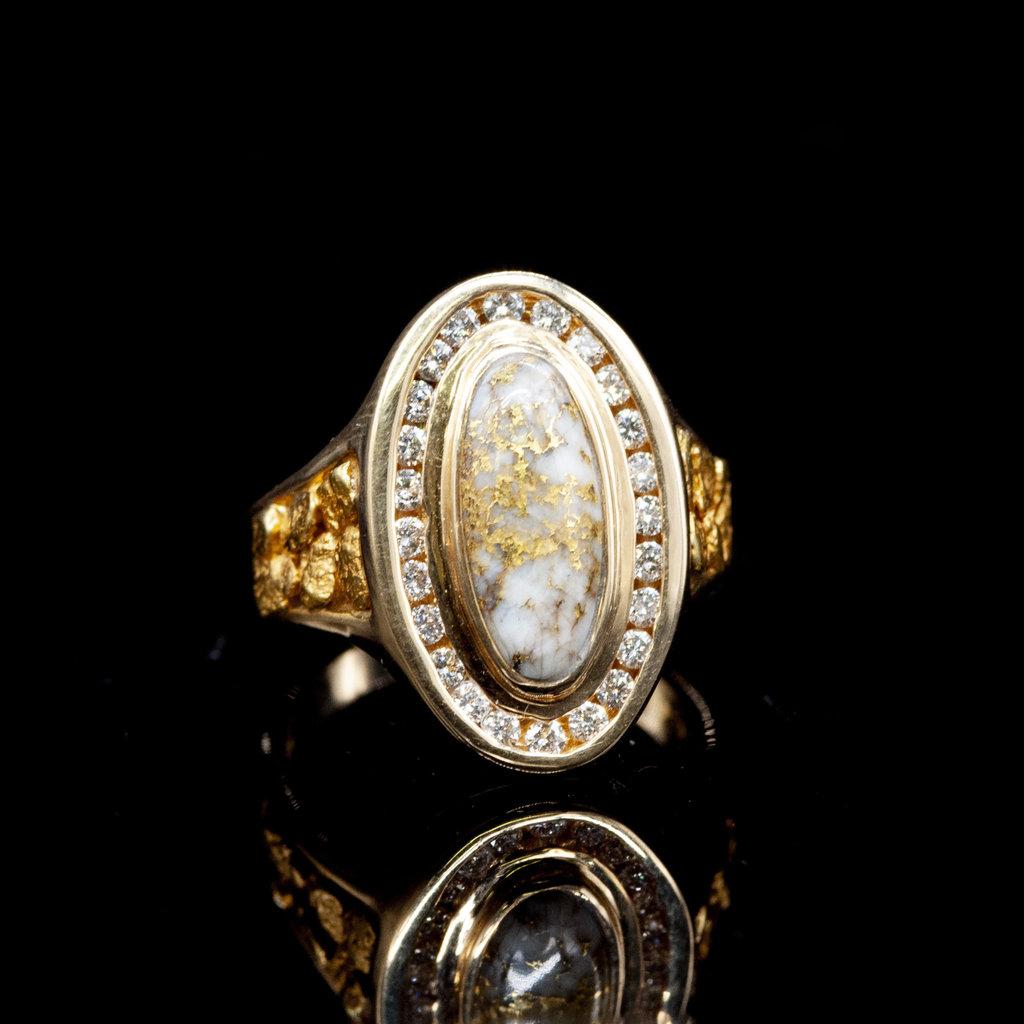 Gold Quartz Ring RL1049DQ - 7.75