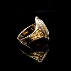 Gold Quartz Ring RL1049DQ