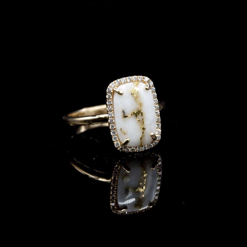 Gold Quartz Ring_RL1185DQ