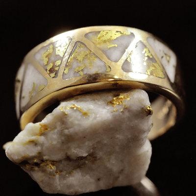Gold Quartz Ring 7.25 RL1076Q
