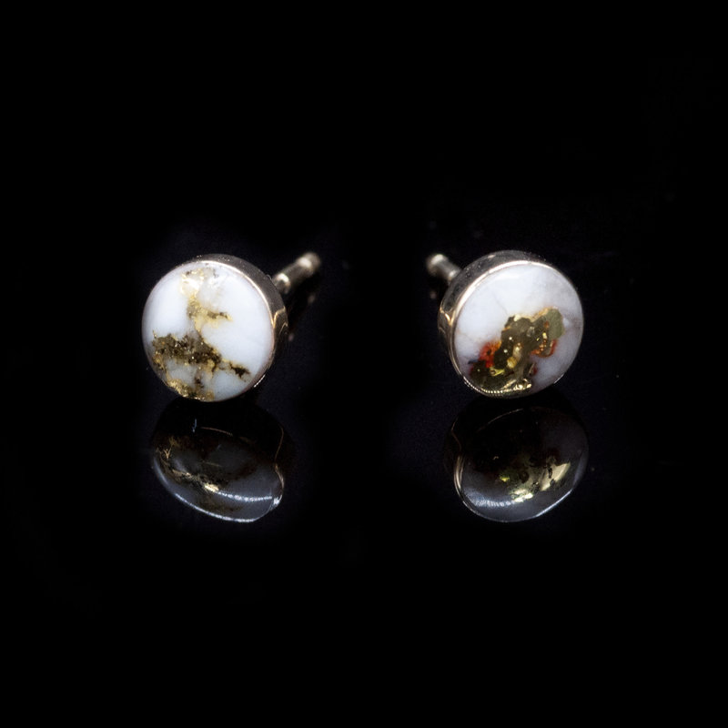 Gold Quartz Stud Earrings EBZ6MMQ